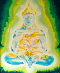 Boeddha schilderij - Medicinale Boeddha