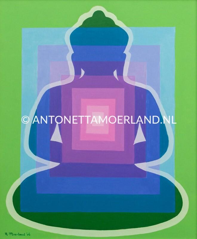 Boeddha schilderij - Moderne Boeddha