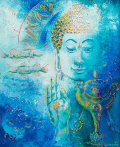 Boeddha schilderij - Tibetaanse symboliek