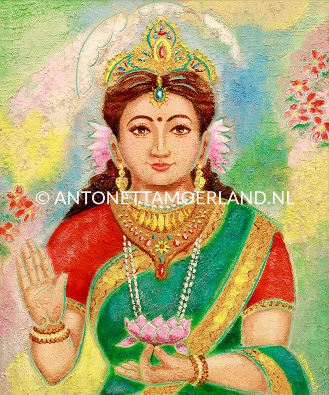 Hindoe schilderij - Godin Sita