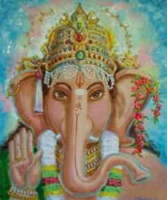 Hindoe schilderij - portret van Shri Ganesha