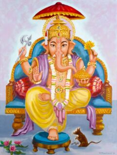 Hindoe schilderij - Shri Ganesha