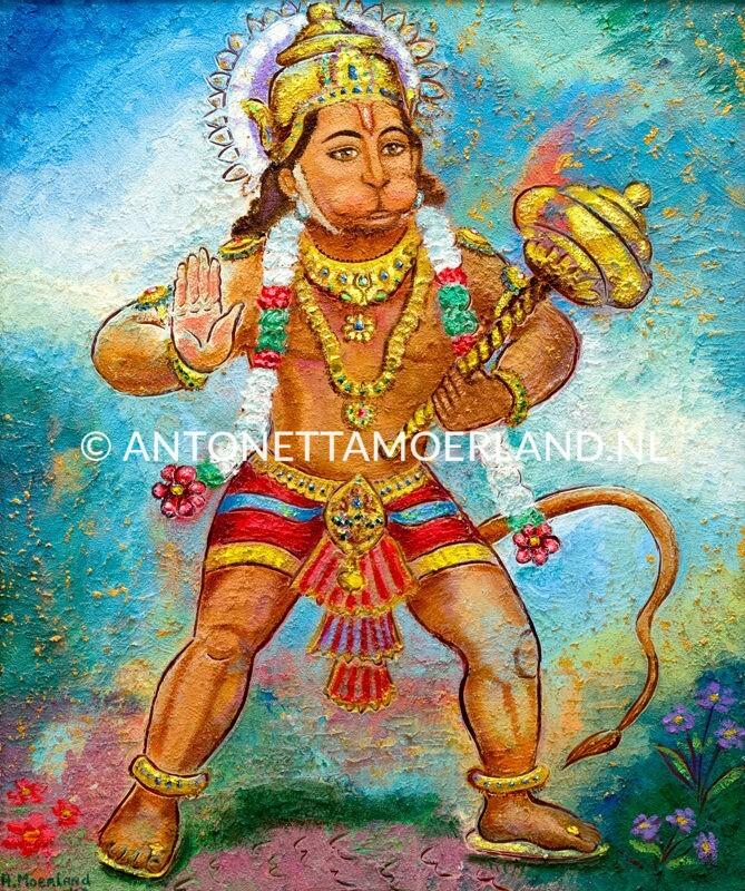 Hindoe schilderij - Shri Hanuman