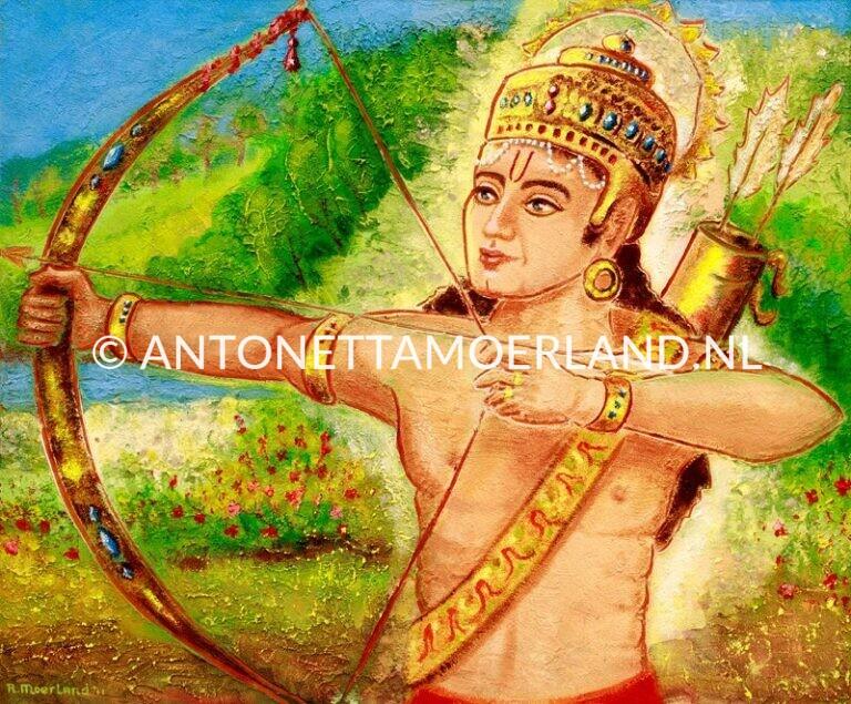 Hindoe schilderij - Shri Lakshman