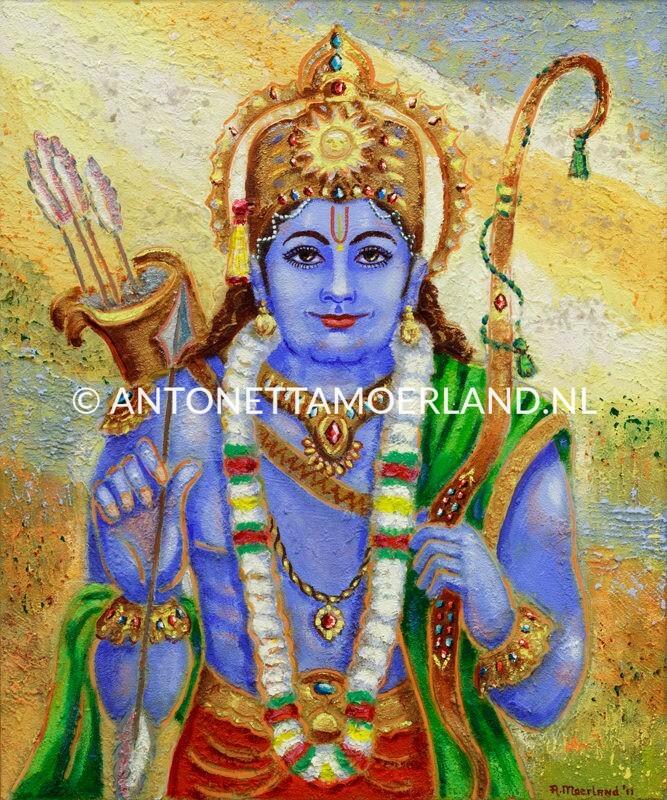 Hindoe schilderij - Shri Rama