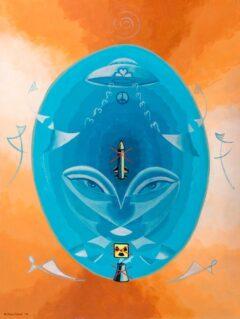 Intuïtief schilderij - Anti kruisraket, anti kernenergie