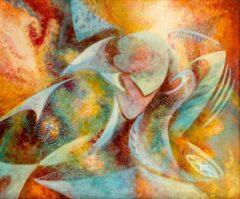 Intuïtief schilderij - Asymmetrisch figuur