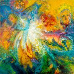 """Intuïtief schilderij - """"Beestachtig"""""""