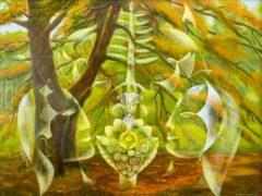 Intuïtief schilderij - Het gezicht van de herfst
