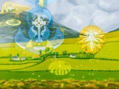 Intuïtief schilderij - Ierland, Keltisch kruis