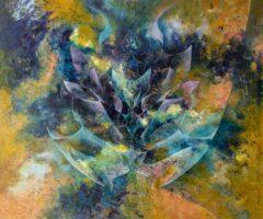 Intuïtief schilderij - Okerkleurig
