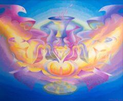 Intuïtief schilderij - Spirituele engel ufo