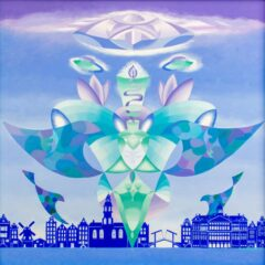 Intuïtief schilderij - Ufo above Amsterdam