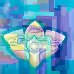 Intuïtief schilderij - Ufo figure