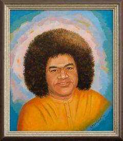 portret van Sri Sathya Sai Baba