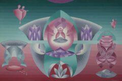 Intuïtief schilderij – Green Universe