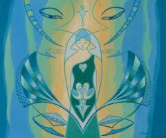 Intuïtief schilderij – Swan Lady