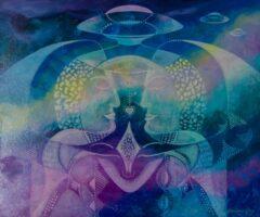 Intuïtief schilderij – Mystical Faces