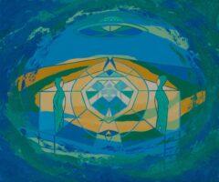 Intuïtief schilderij – Space Meeting